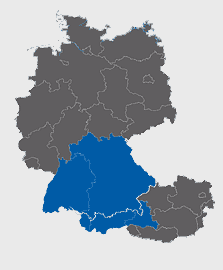 Leistungsgebiet Bayern-Baden-Württemberg-Vorarlberg-Tirol-Salzburg