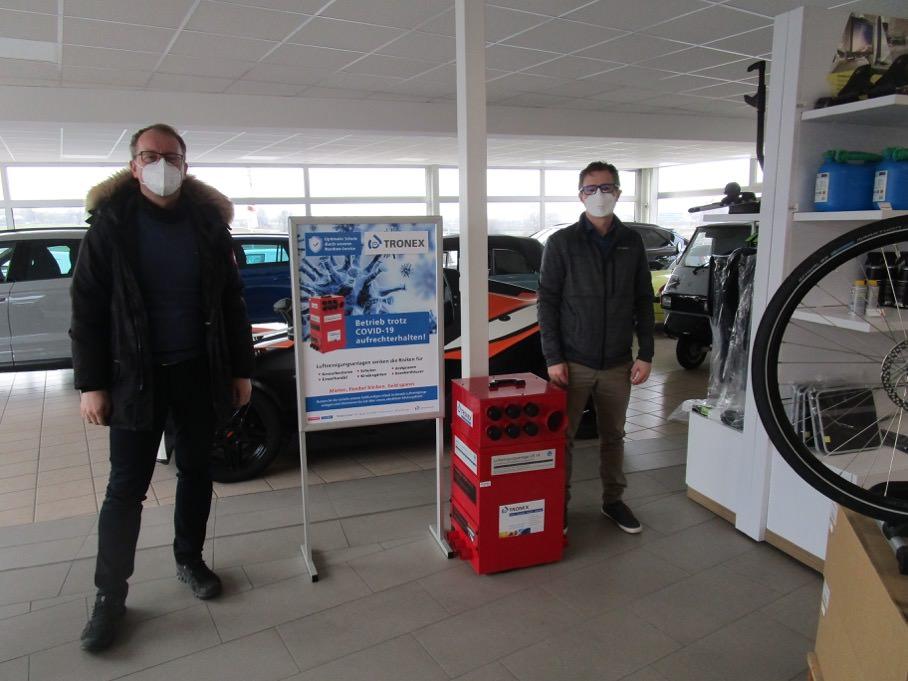 Schutz gegen Corona: Autohaus Köpf setzt auf die Luftreinigungsanlagen von Tronex